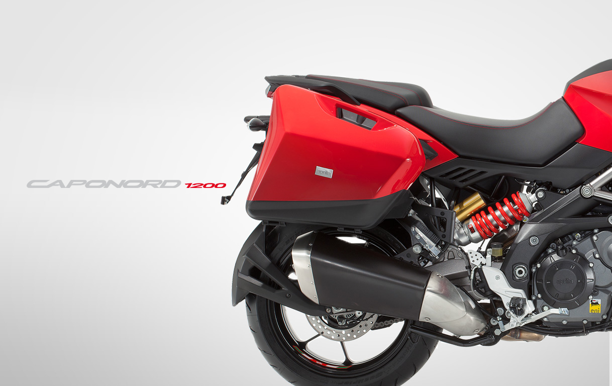 Aprilia Caponord 1200 Travel Pack red and logo