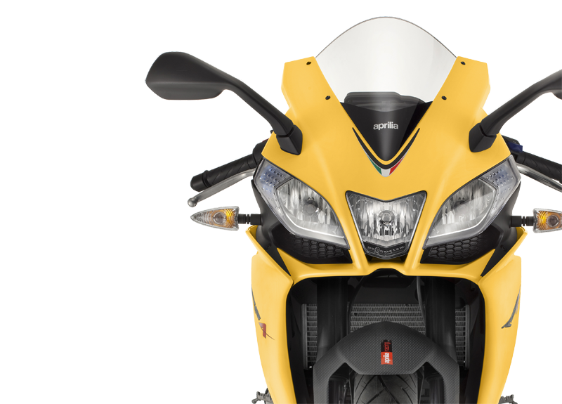 Aprilia RS4 125 yellow infographics